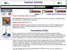 Fitness Gamble Lesson Plan