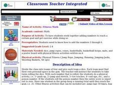 Fitness Math Lesson Plan