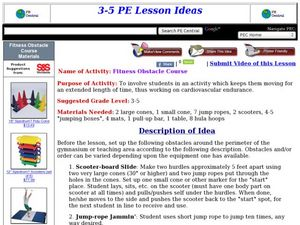 Fitness Obstacle Course Lesson Plan