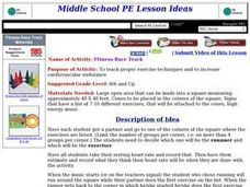 Fitness Race Track Lesson Plan