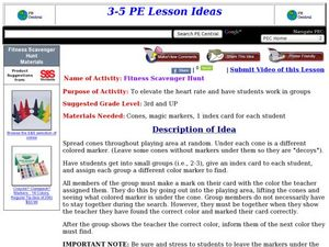Fitness Scavenger Hunt Lesson Plan