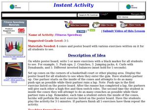 Fitness Speedway Lesson Plan