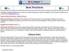 Fitness Stars Lesson Plan