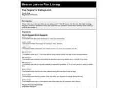 Five Fingers for Eating Lunch Lesson Plan