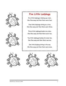 Five Little Ladybugs Worksheet