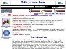 Five Little Pumpkins Rolled Out of Sight Lesson Plan