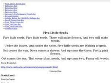 """Five Little Seeds"" Lesson Plan"