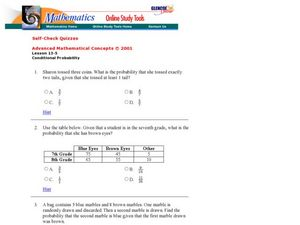 Conditional Probability Worksheet Printable - conditional ...