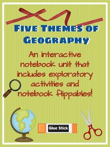 direct interactive instruction lesson plan template - five themes of geography 3rd 6th grade printables