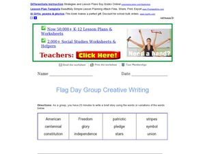 Flag Day Group Creative Writing Worksheet