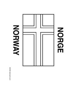 Flag of Norway Coloring Page Worksheet