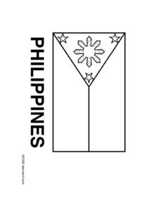 Flag of Poland - Coloring Page Worksheet