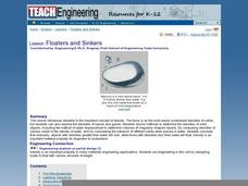 Floaters and Sinkers Lesson Plan