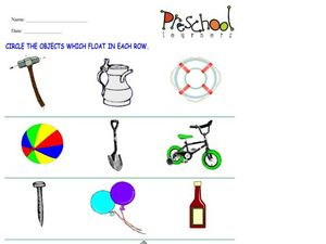 Floating Objects Worksheet