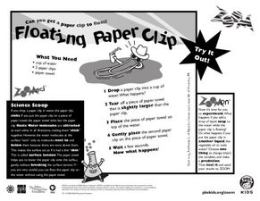 Floating Paper Clip Worksheet