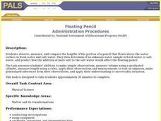 Floating Pencil Lesson Plan