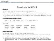 Florida During World War II Lesson Plan