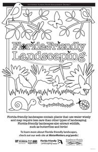 Florida Friendly Coloring Page Worksheet