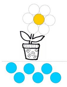 Flower in a Pot Cut And Paste Worksheet