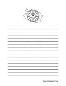 Flower Stationary Printables & Template