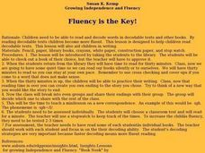 Fluency is the Key! Lesson Plan