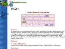 Fluffy Snow to Glacier Ice Lesson Plan