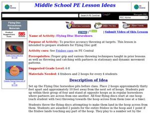 Flying Disc Horseshoes Lesson Plan