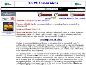 Foam Ball Passover Lesson Plan