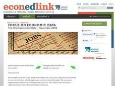 Focus On Economic Data: The Unemployment Rate - November 2003 Lesson Plan
