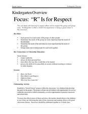 "Focus: ""R"" Is for Respect Lesson Plan"