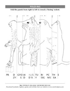 Fold-Ins- Folding Puzzles- Kissing Rodent Lesson Plan
