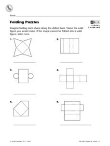 Folding Puzzles Worksheet