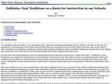 Folktales: Oral Traditions as a Basis for Instruction in our Schools Lesson Plan
