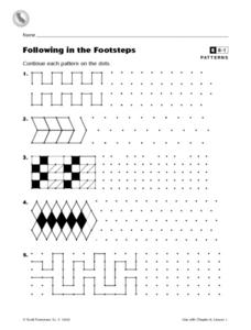 Following in the Footsteps Worksheet