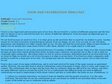Food And Celebration Lesson Plan