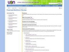 Food and Nutrition Review Lesson Plan