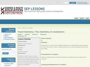 Food Chemistry: The Chemistry of Sweeteners Lesson Plan