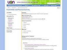 Food Intake and Physical Activity Lesson Plan