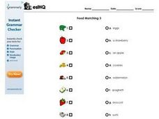 Food Matching 3 Worksheet