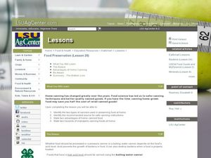 Food Preservation Lesson Plan