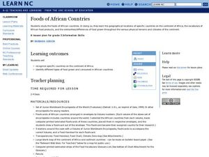 Foods of African Countries Lesson Plan