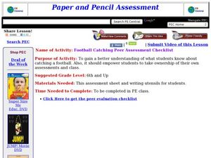 Football Catching Lesson Plan