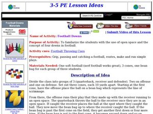 Football Downs Lesson Plan