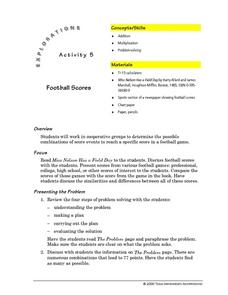 Football Scores Lesson Plan