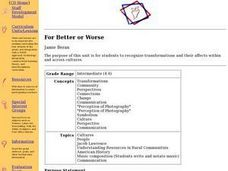 For Better or Worse: Cultural Exchange Lesson Plan
