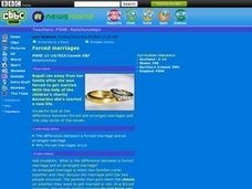 Forced Marriages VS. Arranged Marriages Lesson Plan