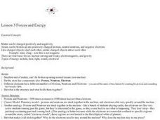 Forces And Energy Lesson Plan