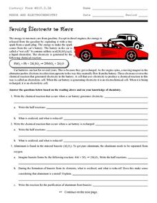 Forcing Electrons to Move Worksheet