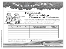 Forecast: Rainy With a Chance of Twisters Worksheet