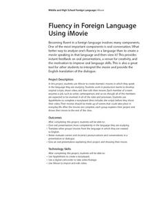 Foreign Language Fluency Using iMovie Lesson Plan